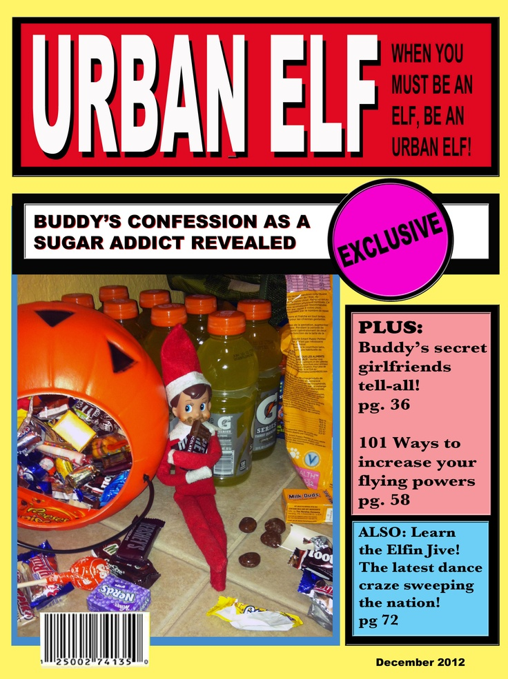 "Urban Elf Magazine""   Buddy, Elf on My Shelf   Pinterest"