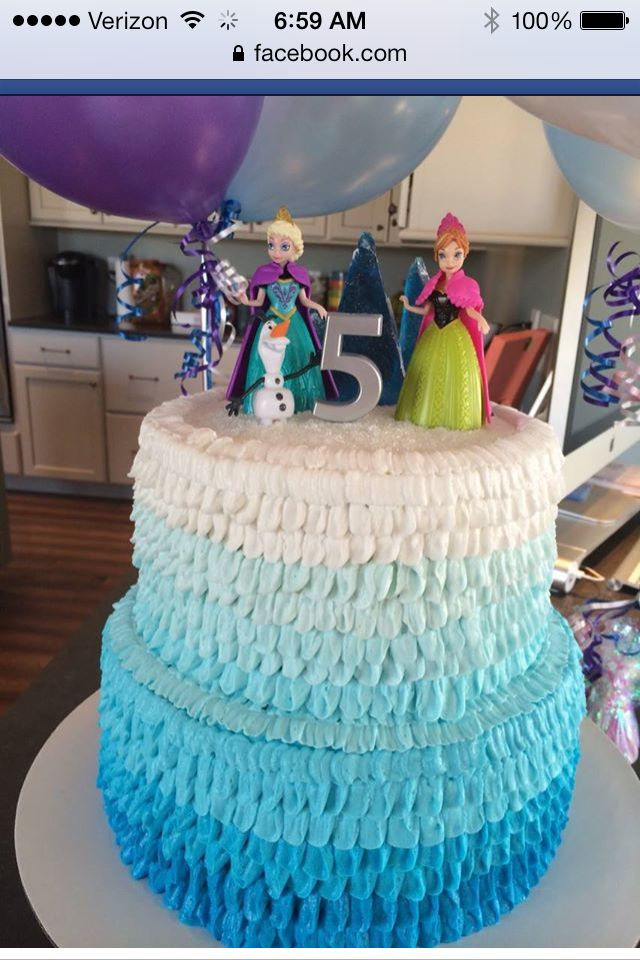 Cake With Icing Freeze : Pin by Alicia Bunting on Girl Birthday Party Ideas Pinterest