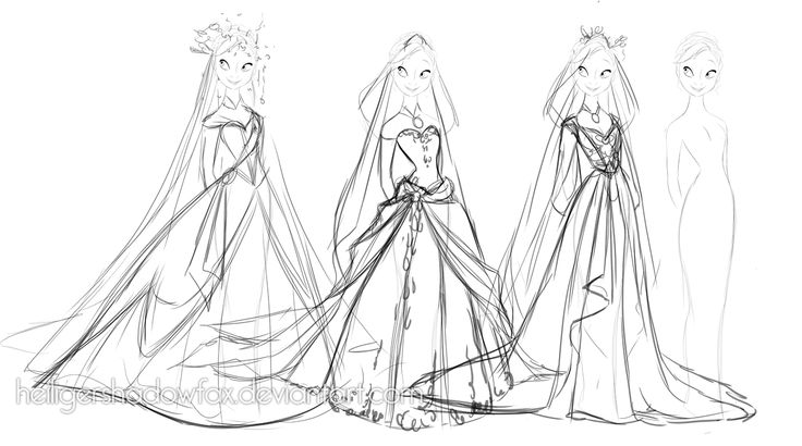 Frozen | Dress concept art