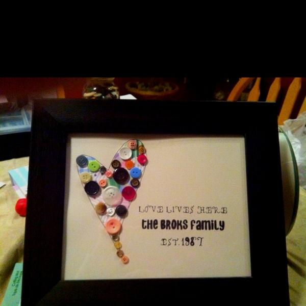 25th Wedding Anniversary Gifts Pinterest : DIY from pinterest! Made for my parents 25th wedding anniversary ...