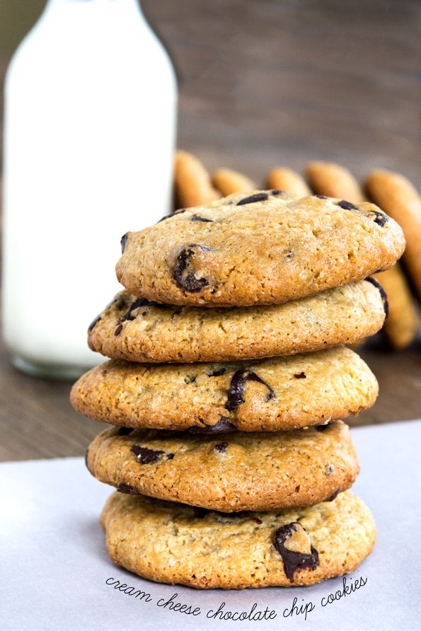 Gluten Free Cream Cheese Chocolate Chip Cookies