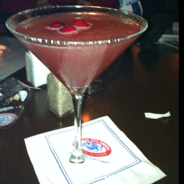 Cranberry lemon martini at Legal Seafoods