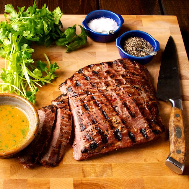 Flank Steak with Soy Mustard Sauce by Oui Chef Network