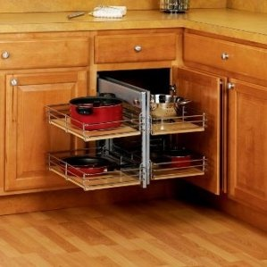Corner cabinet what a great alternative to the lazy susan