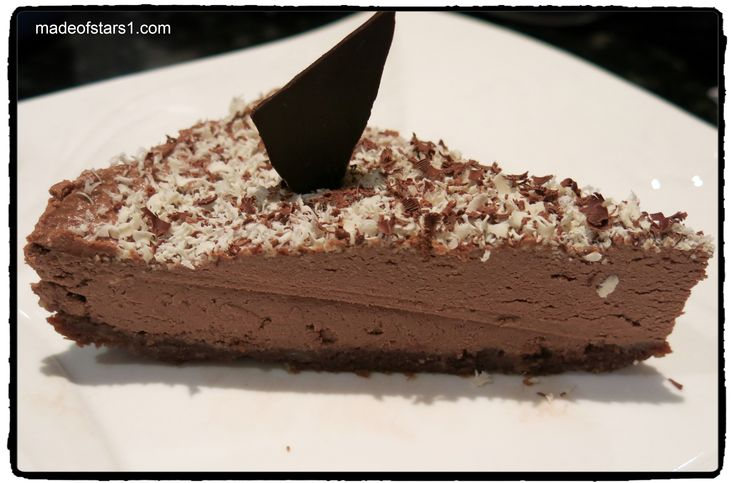 Recipe} Kahlua Chocolate Cheesecake (no-bake, vegan)