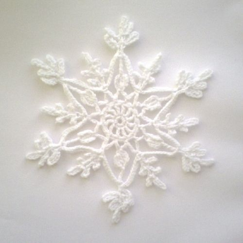 Crochet Snowflake : crochet snowflake snowflakes Pinterest