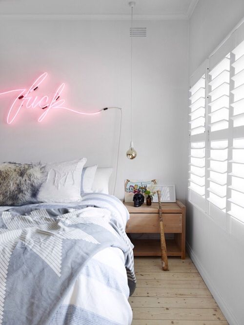 Neon home pinterest for Neon signs for bedroom