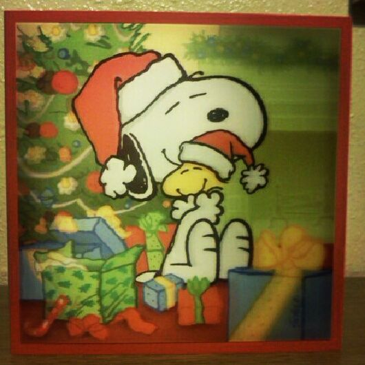 Snoopy woodstock christmas card my obsession pinterest