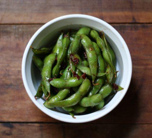 So good - chipotle-garlic edamame. Super easy recipe that's also a ...