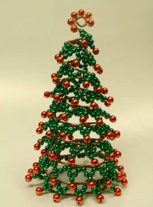 Another Wire Bead Tree Christmas Pinterest