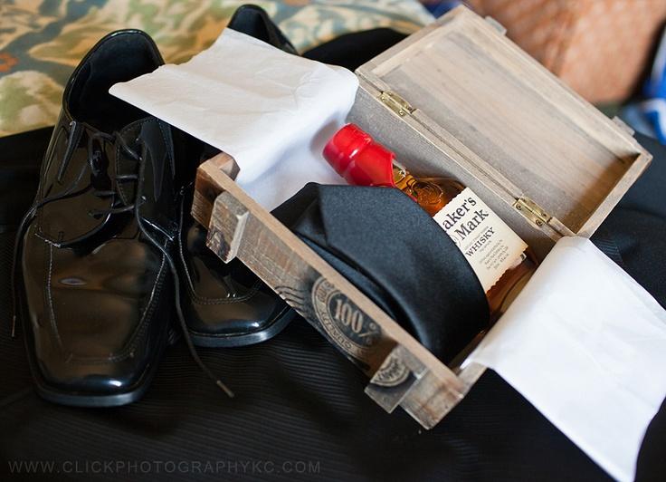 Groomsmen Wedding Gift Ideas : groomsmen gift idea, shot glass, whiskey and socks instead of a tie