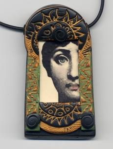 Polydogz Designs :: Polymer Jewelry :: transfer_pendant
