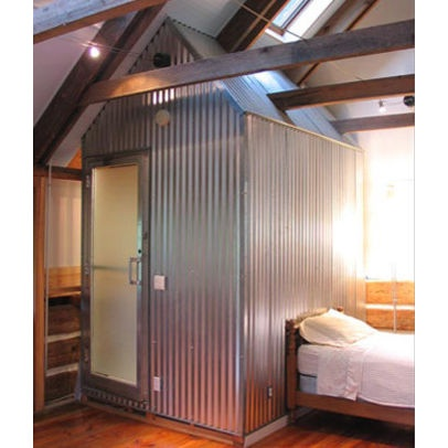 Pin by yvonne murray on west side ideas pinterest for Corrugated iron bathroom ideas