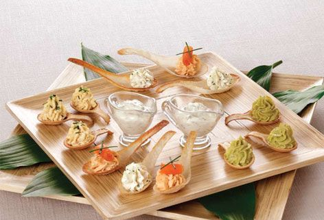 kosher scoop edible canape spoons rosh hashana pinterest