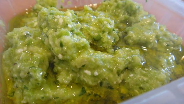 Pea, Artichoke and Feta Pesto- great as a spread for sandwiches ...
