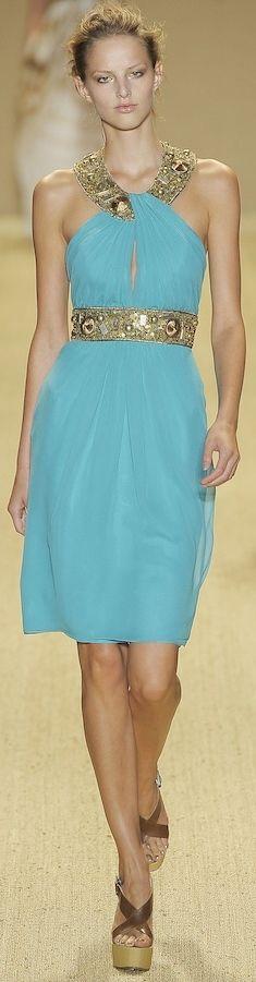 Monique Lhuillier // humm nice greek dress! #usaria