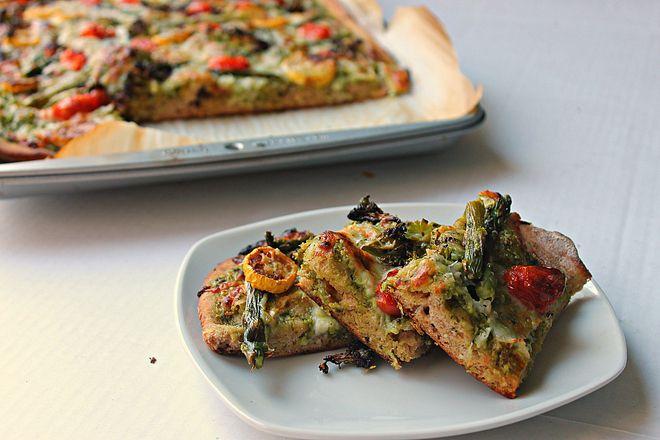 Roasted Vegetable Flatbread | Sammitches | Pinterest