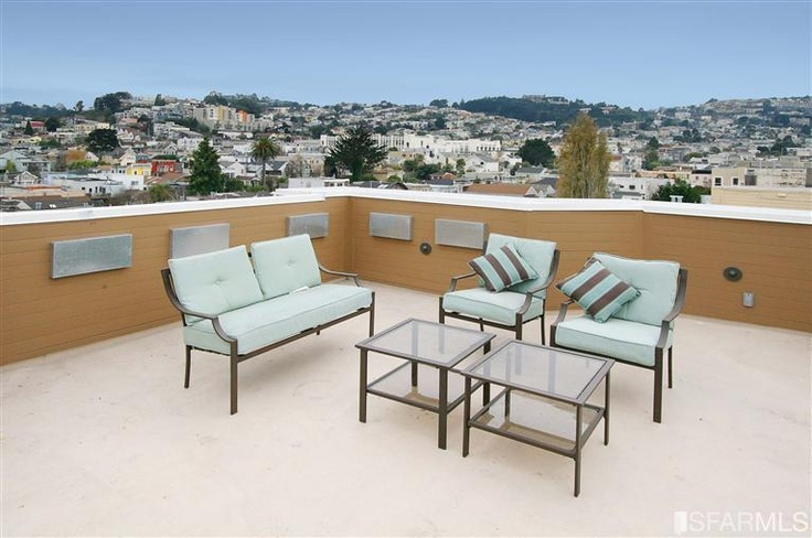 Outdoor furniture for roof deck