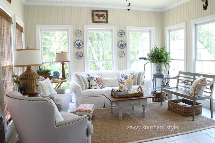 Sunroom decor savvy southern style sunroom pinterest Southern home decor on pinterest