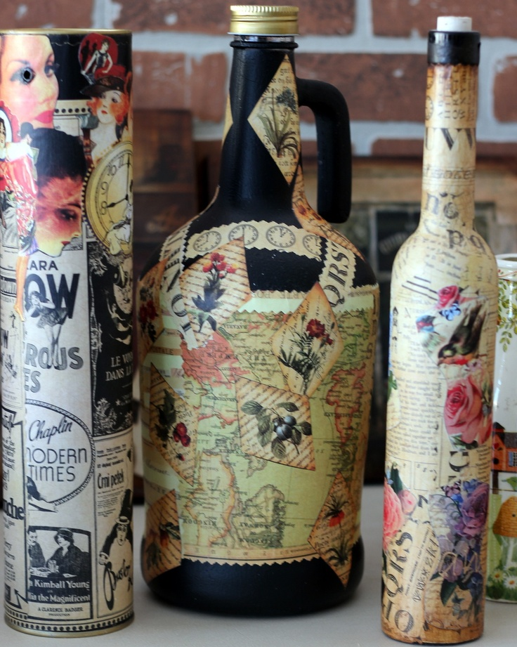 recycling the empty bottles..Love
