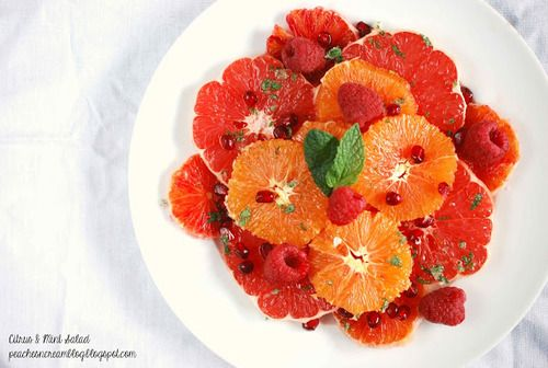 Citrus & Mint Salad…a healthy and refreshing salad,...