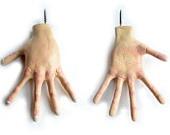 Wall Hook - Hand Sculpture