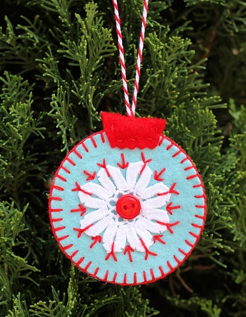 Snowflake Homemade Felt Ornaments Ornaments For Advent Tree Pinte