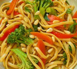 Cold Vegetarian Asian Noodle Salad | Nom Noms | Pinterest