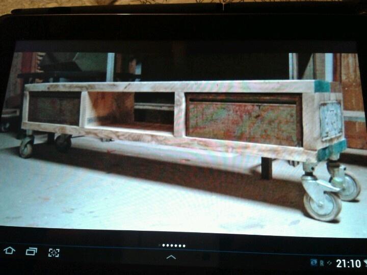 Tv kast steigerhout  ♥ Hout ♥  Pinterest