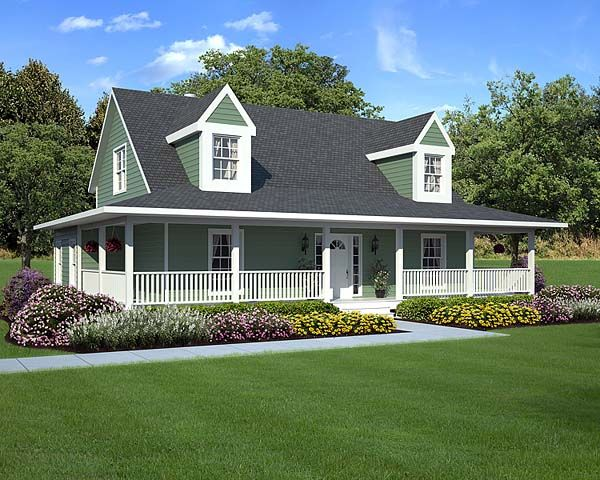 Country farmhouse southern traditional house plan 10785 for Traditional farmhouse plans