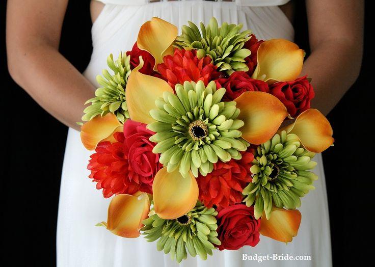 Green Gerbera Wedding Flowers Package