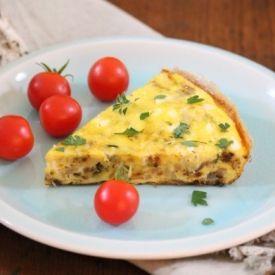 Zucchini, Potato Feta Frittata | Food