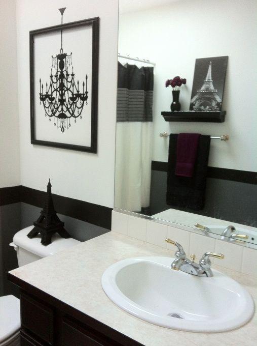 black and white bathroom small bathroom framed wall decal bathrooms