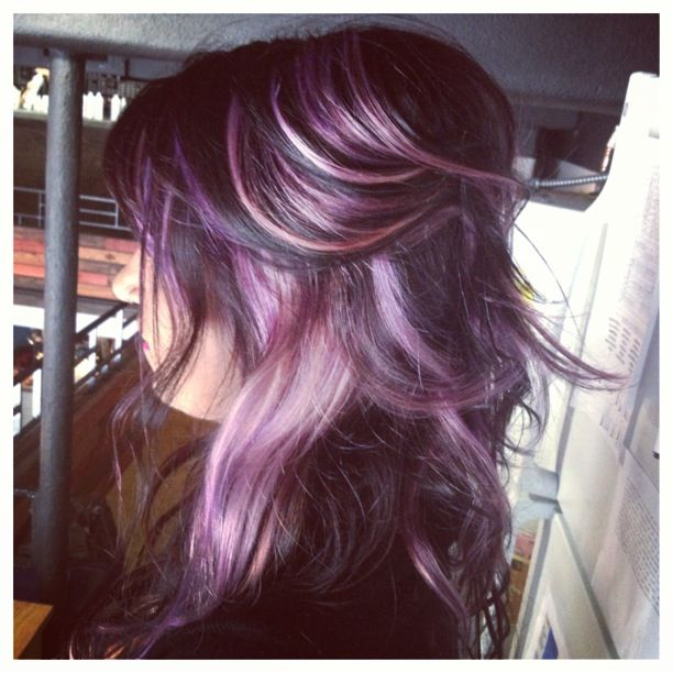 Lavender highlights. This is a must when those greys really start to ...