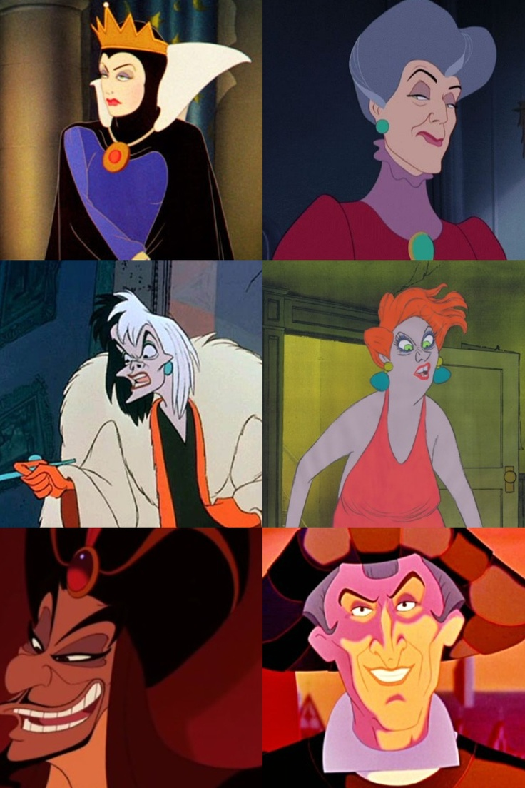 Tie evil queen lady tremaine cruella de vill madam medusa jafar frollo