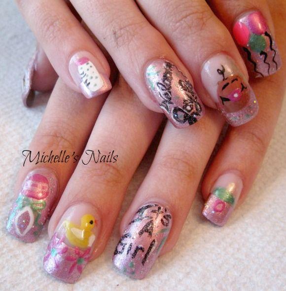 sara 39 s baby shower nails nails pinterest