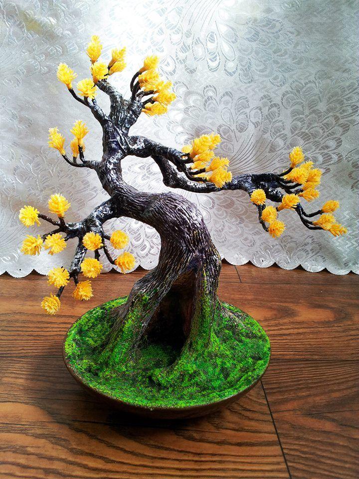 Искусственное дерево для интерьера своими руками