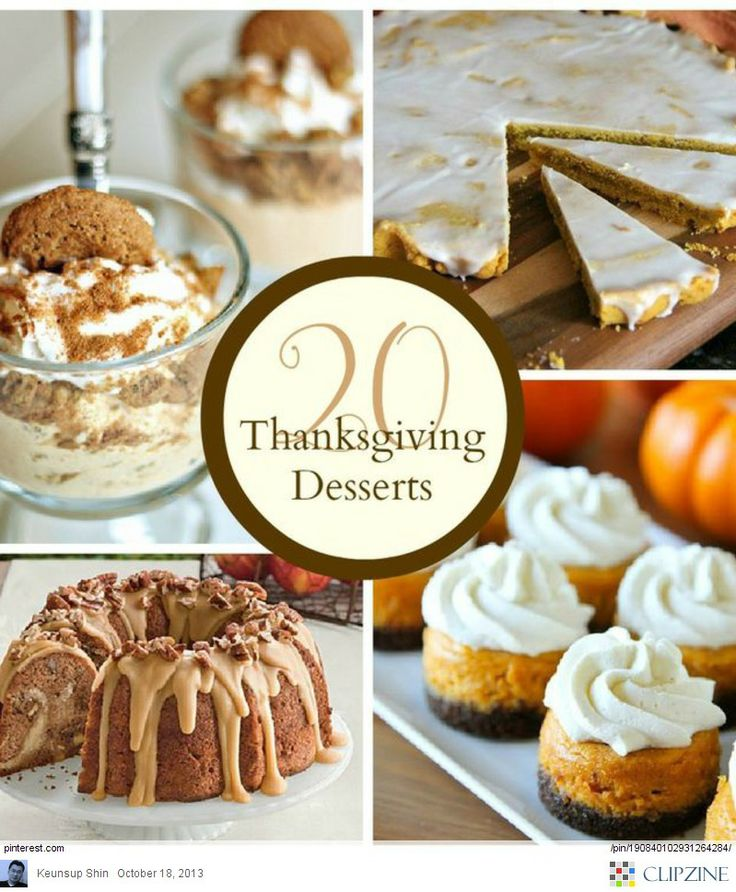 Thanksgiving desserts ideas thanksgiving pinterest for Fun and easy thanksgiving dessert recipes