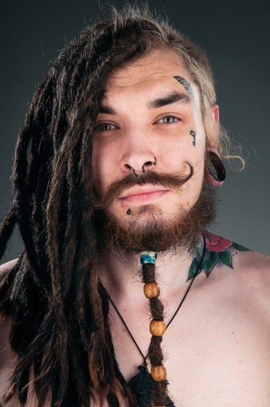 dreadlocks and face tattoos Dreads and colored hair Pinterest