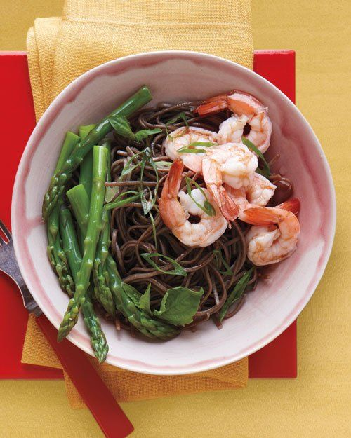 Soba Salad with Asparagus and Shrimp | munch. | Pinterest