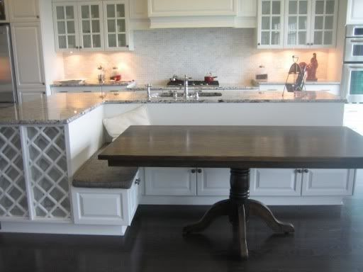 Kitchen island with bench seating for the home pinterest for Kitchen island bench