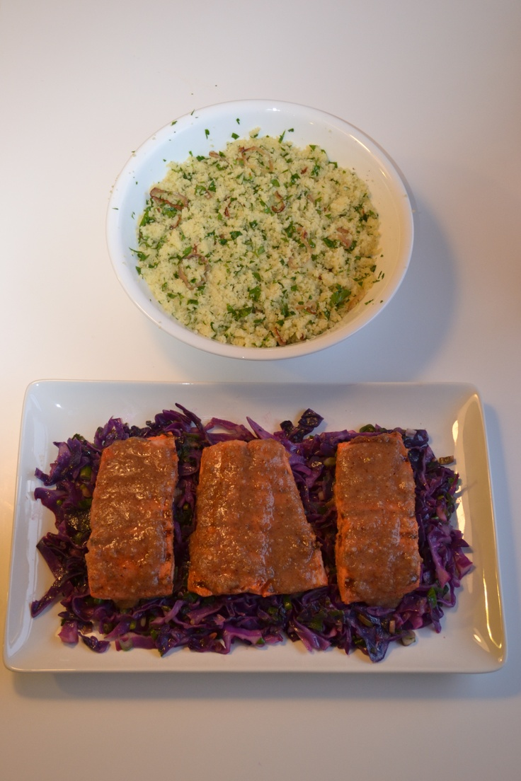 Grilled Sockeye salmon with Moroccan spices with a date, sumac and ...