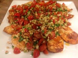 Chicken Paillard with Roasted Corn Salsa | Main Dishes | Pinterest
