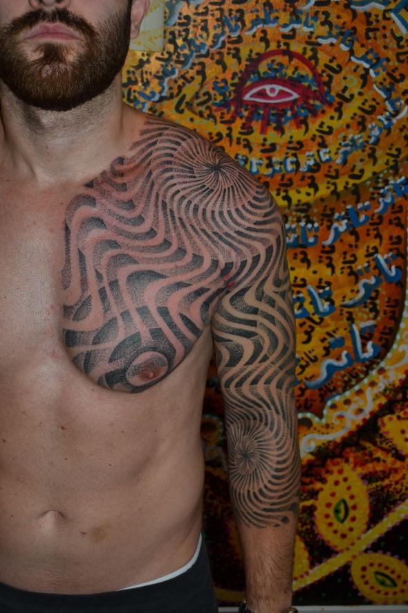 Xed le Head taken from Matt Black's blog | Abstract Blackwork Tattoos ...