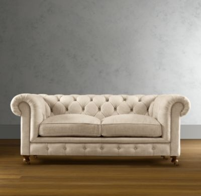 Restoration hardware tufted white sofa someday pinterest for Restoration hardware tufted sectional sofa