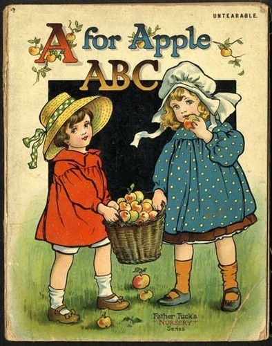 ABC - A for APPLE - FRANCES BRUNDAGE 1910 Book
