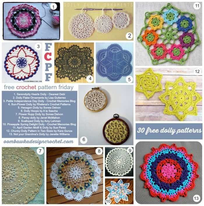 Beautiful Free Vintage Crochet Patterns For Doilies Gallery