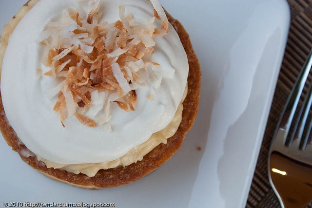 coconut custard tart | Desserts | Pinterest