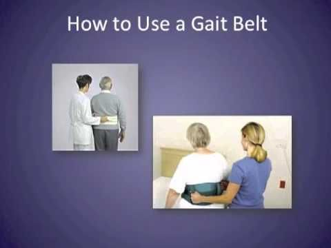 How to Use a Gait Belt