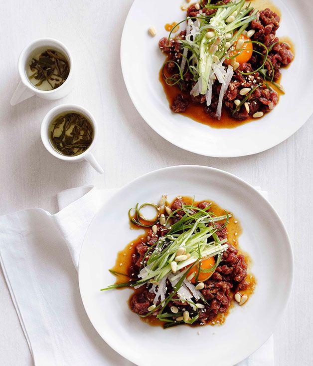 Korean beef tartare | Asian food | Pinterest